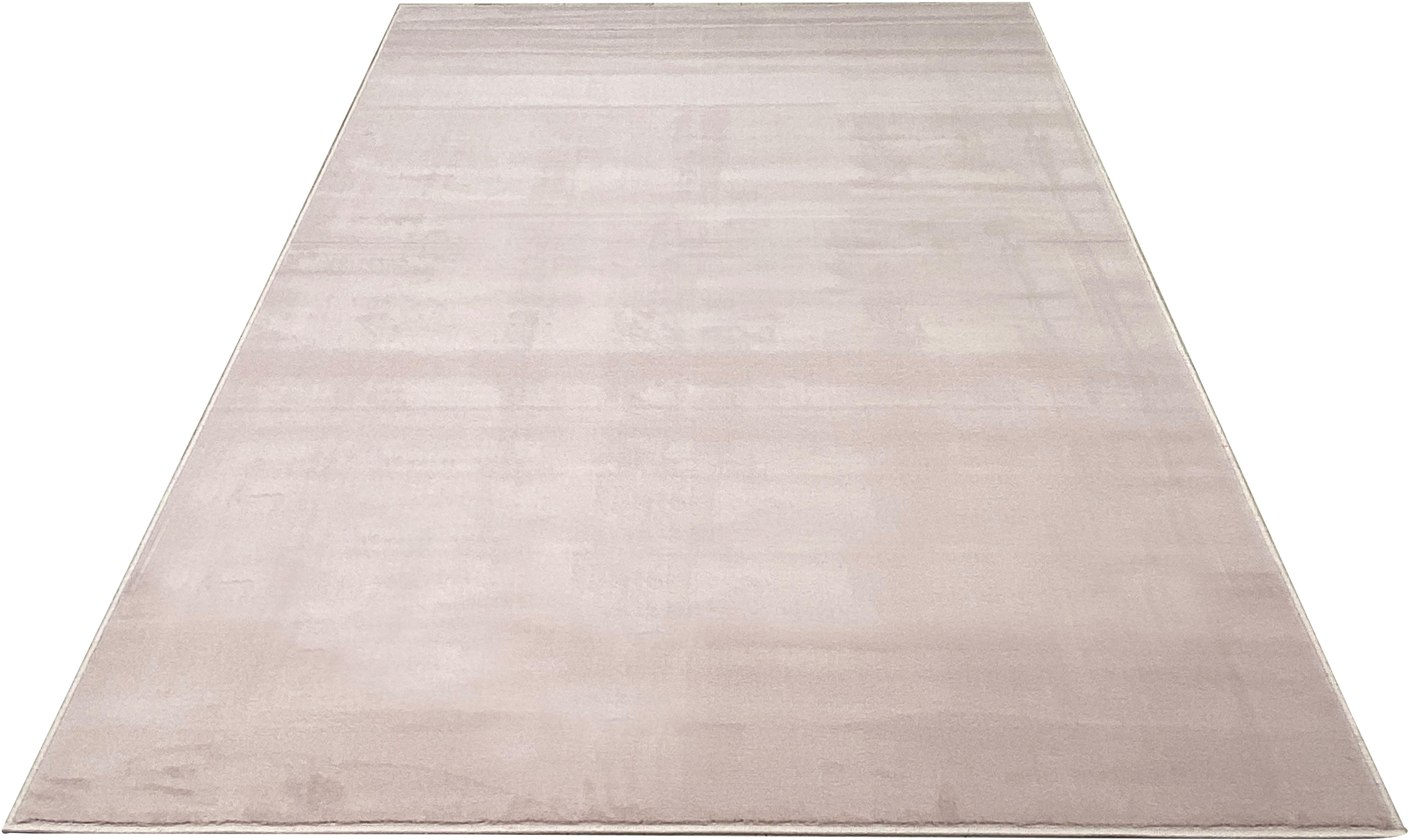 my home Teppich Paddy, rechteckig, 7 mm Höhe, Uni Teppich, Wohnzimmer rosa Esszimmerteppiche Teppiche nach Räumen
