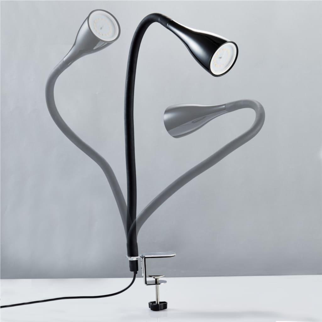 B.K.Licht LED Klemmleuchte »Sirius«, GU10, Warmweiß, 3-stufig dimmbar, flexibler Schwanenhals mit Silikonmantel, Leuchtmittel inkl.