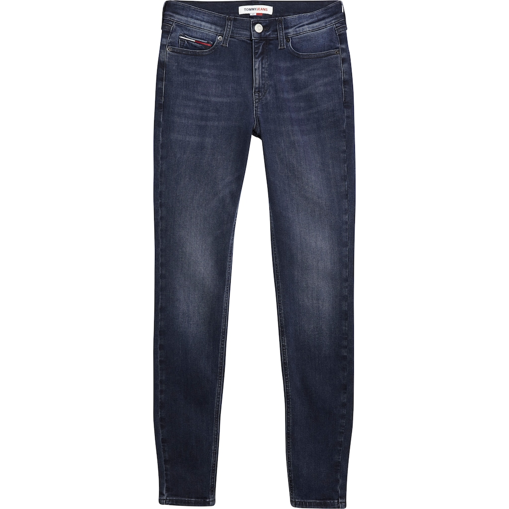 Tommy Jeans Skinny-fit-Jeans »NORA MR SKNY ABBS«, mit Tommy Jeans Logo-Badge & Stickerei