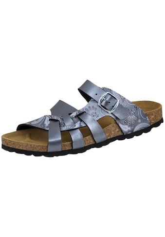 Sandale »560082«, Bioline Pantolette Flora grau kaufen