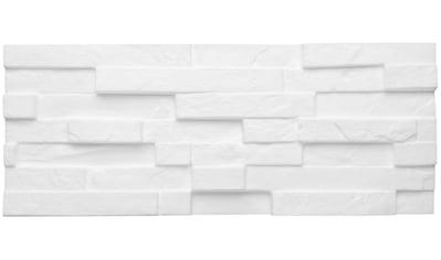 Decosa 3D Wandpaneel »Creativstein Sierra«, naturgetreue Steinoberfläche, weiß kaufen