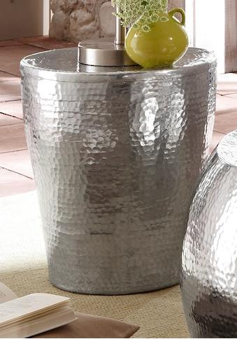 Home affaire Beistelltisch »Alui«, aus schönem Aluminium in Hammerschlag-Optik, Höhe 41 cm kaufen