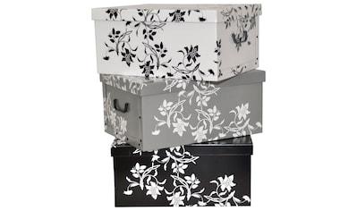 KREHER Aufbewahrungsbox »Barock Blumen«, 3er - Set kaufen