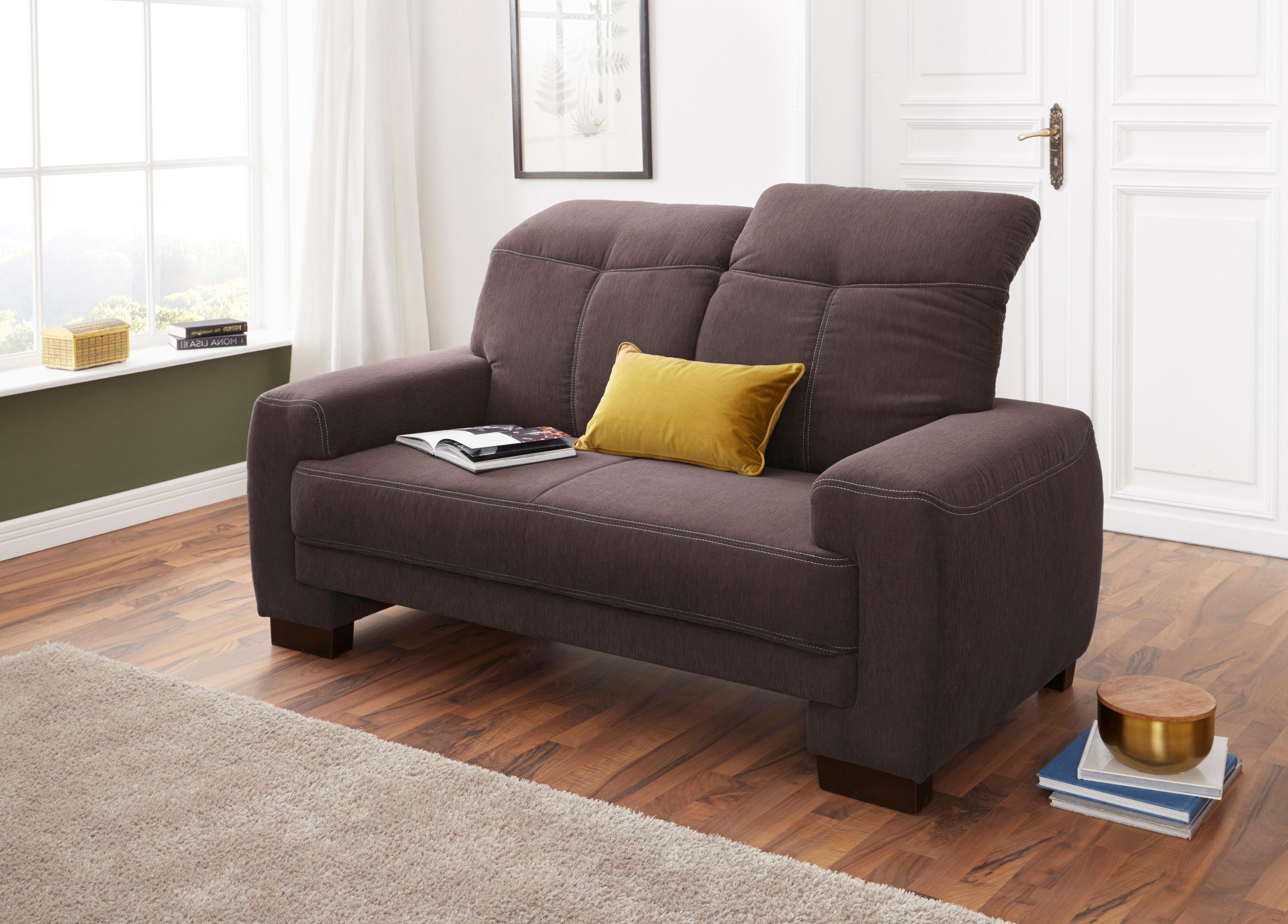 2-Sitzer mit Rückenfunktion und Federkern | Wohnzimmer > Sofas & Couches > Wohnlandschaften | Geprägte - Microfaser - Chenille