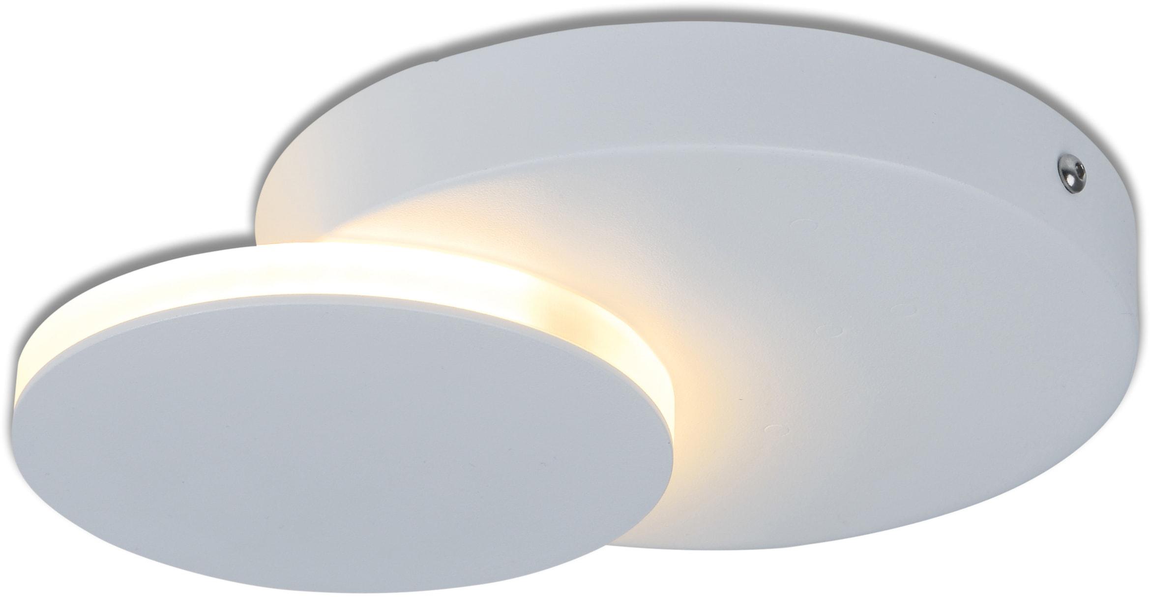 näve LED Wandleuchte Dallas, LED-Board, 1 St., Warmweiß, Wand- und Deckenleuchte verwendbar