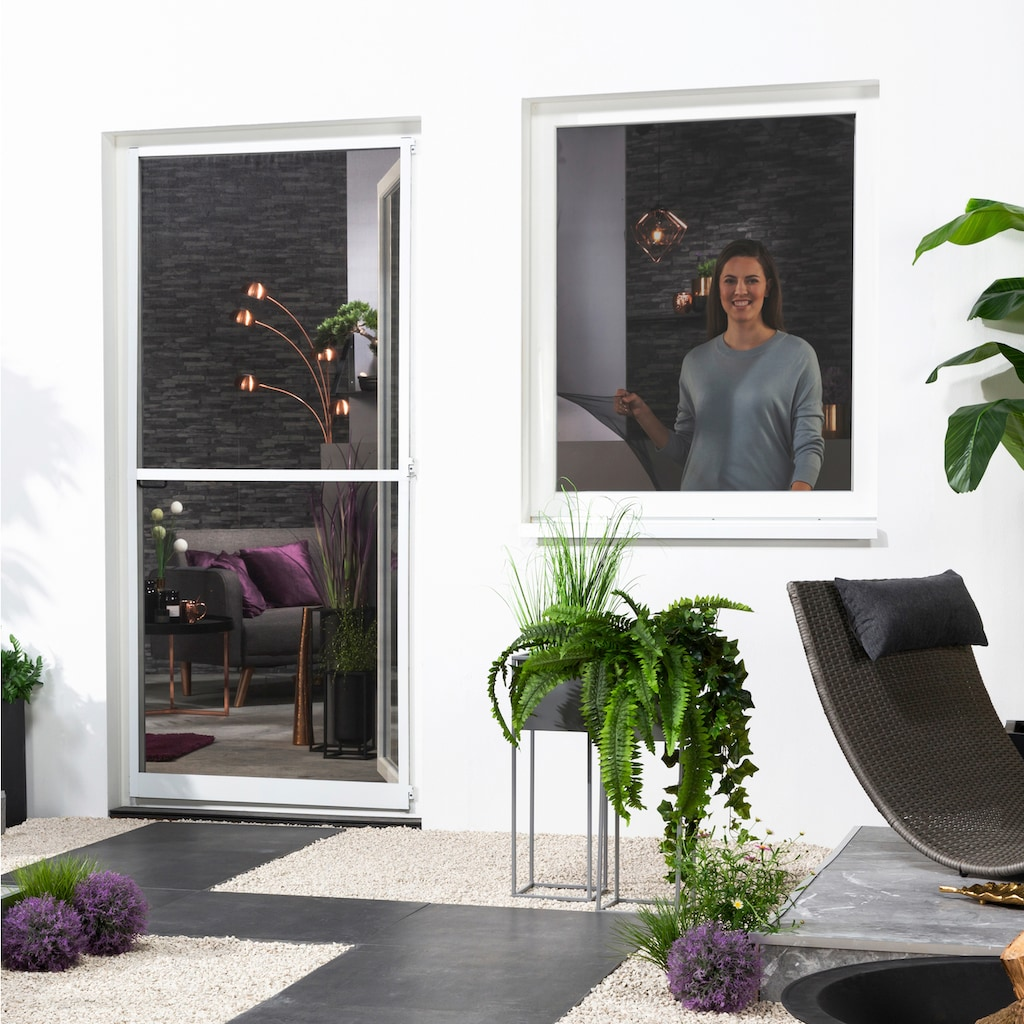 hecht international Insektenschutz-Fenster, mit Klettband, BxH: 130x150 cm