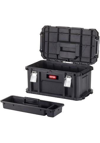 Keter Werkzeugbox »Connect«, extra breit, herausnehmbarer Einsatz, Stapelverriegelung, Metallverschlüsse kaufen