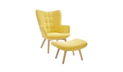 Sessel+Hocker Bezug in Cord-Optik kaufen