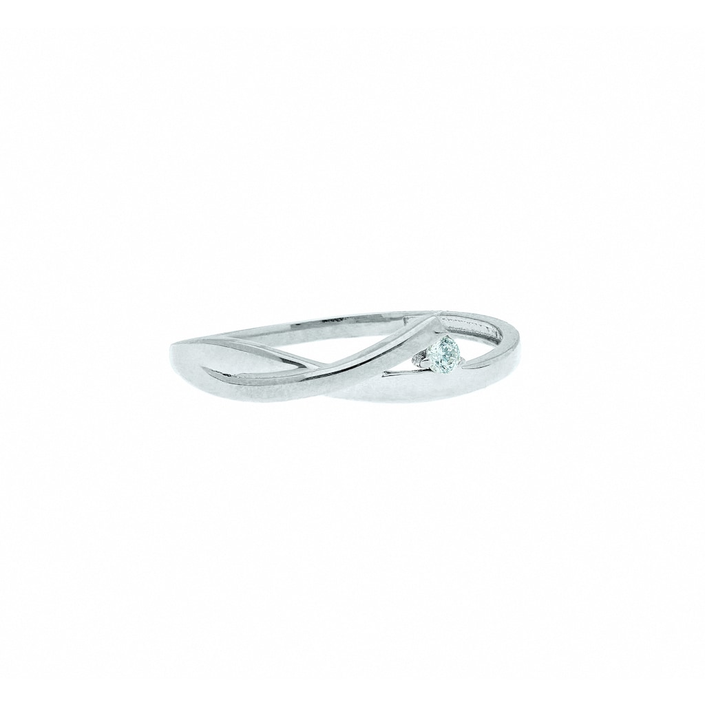 Adelia´s Fingerring »333 Weißgold Ring mit Zirkonia«, Goldschmuck für Damen