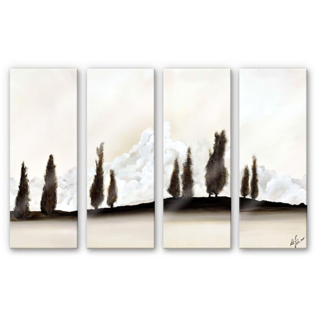 Wall-Art Mehrteilige Bilder »Meditative Ruhe (4-teilig)«, (Set, 4 St.)