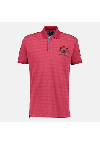 LERROS Poloshirt, mit verwaschenem Streifen und Brustprint kaufen