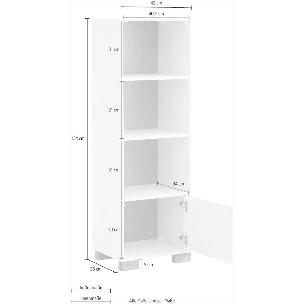 "Home affaire Regal »Ance«, Regal ""Ance"" aus Kiefer und Eiche massiv, Höhe 134 cm"