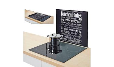 Zeller Present Herdblende-/Abdeckplatte »Kitchen Rules« kaufen