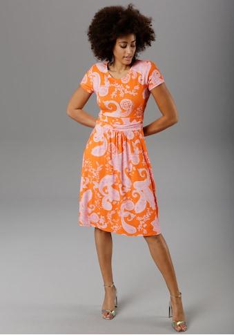 Aniston SELECTED Sommerkleid, mit Paisley-Druck in modischer Knallfarbe - NEUE KOLLEKTION kaufen