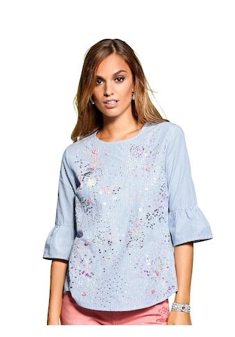 Alba Moda Bluse mit bunter Perlenverzierung kaufen