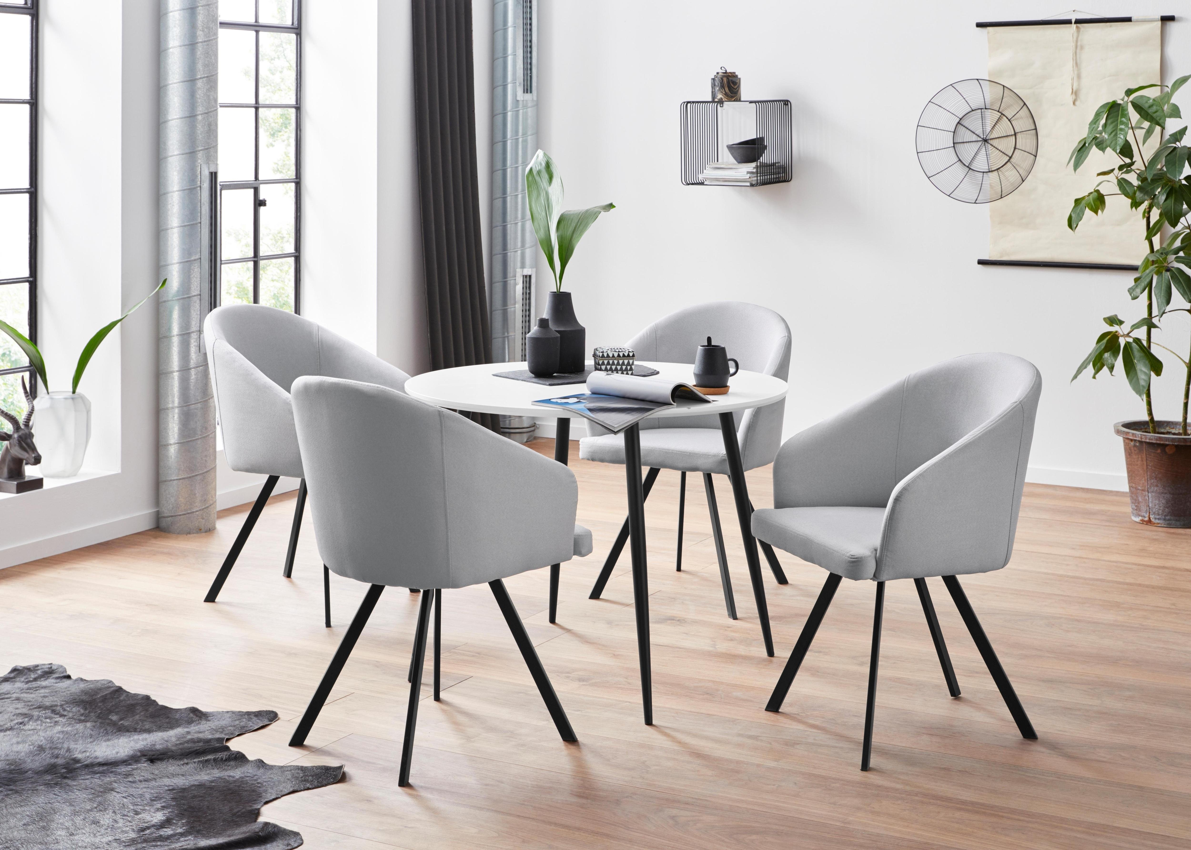 Essgruppe weiß Essgruppen Tische Sitzmöbel-Sets