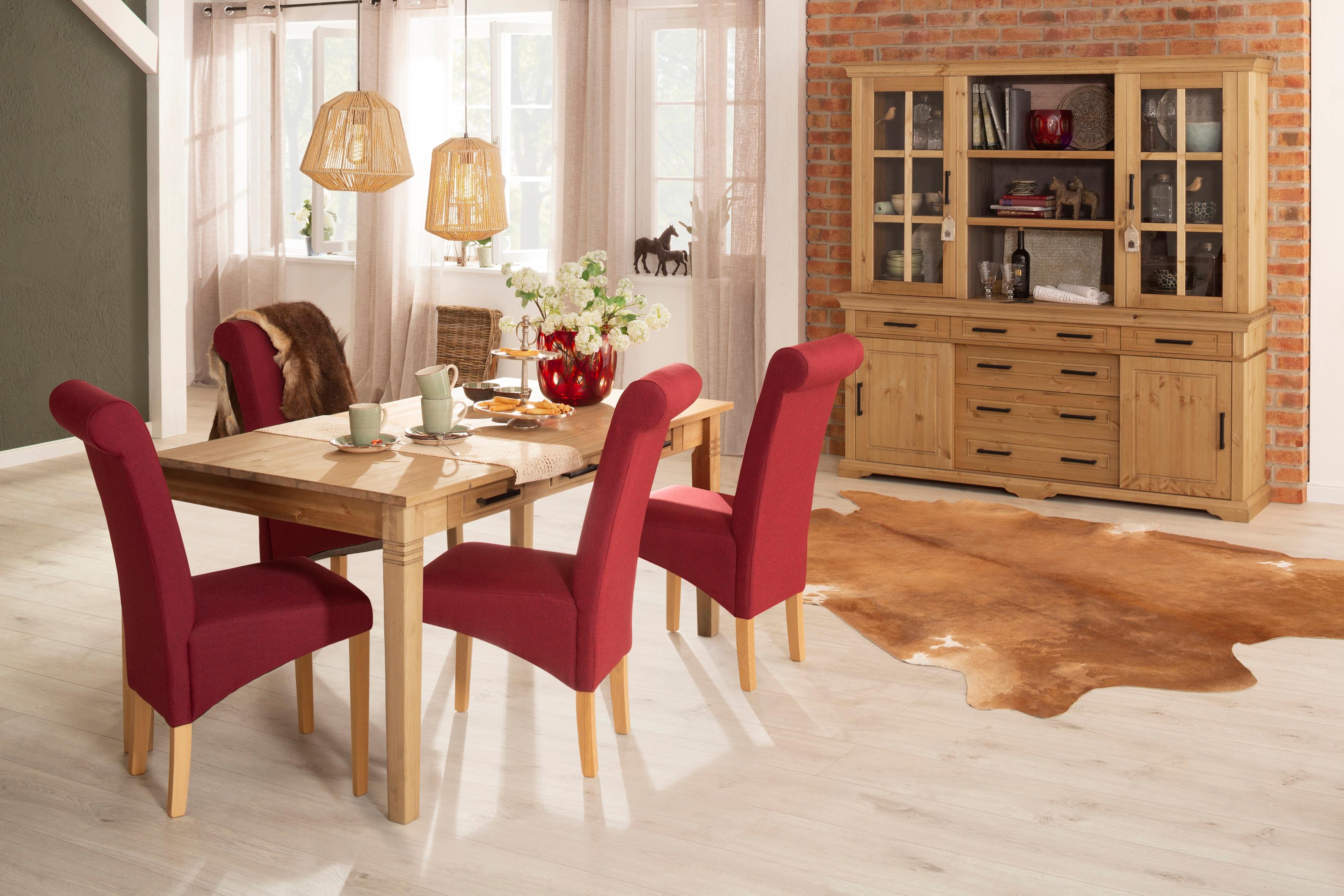 Home affaire Esstisch Anabel, aus massiver Kiefer beige Holz-Esstische Holztische Tische