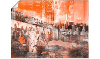 Artland Wandbild »New York Skyline Collage III« kaufen