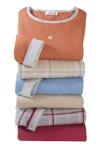 Casual Looks Pullover mit kontrastfarbigen Rollbündchen kaufen