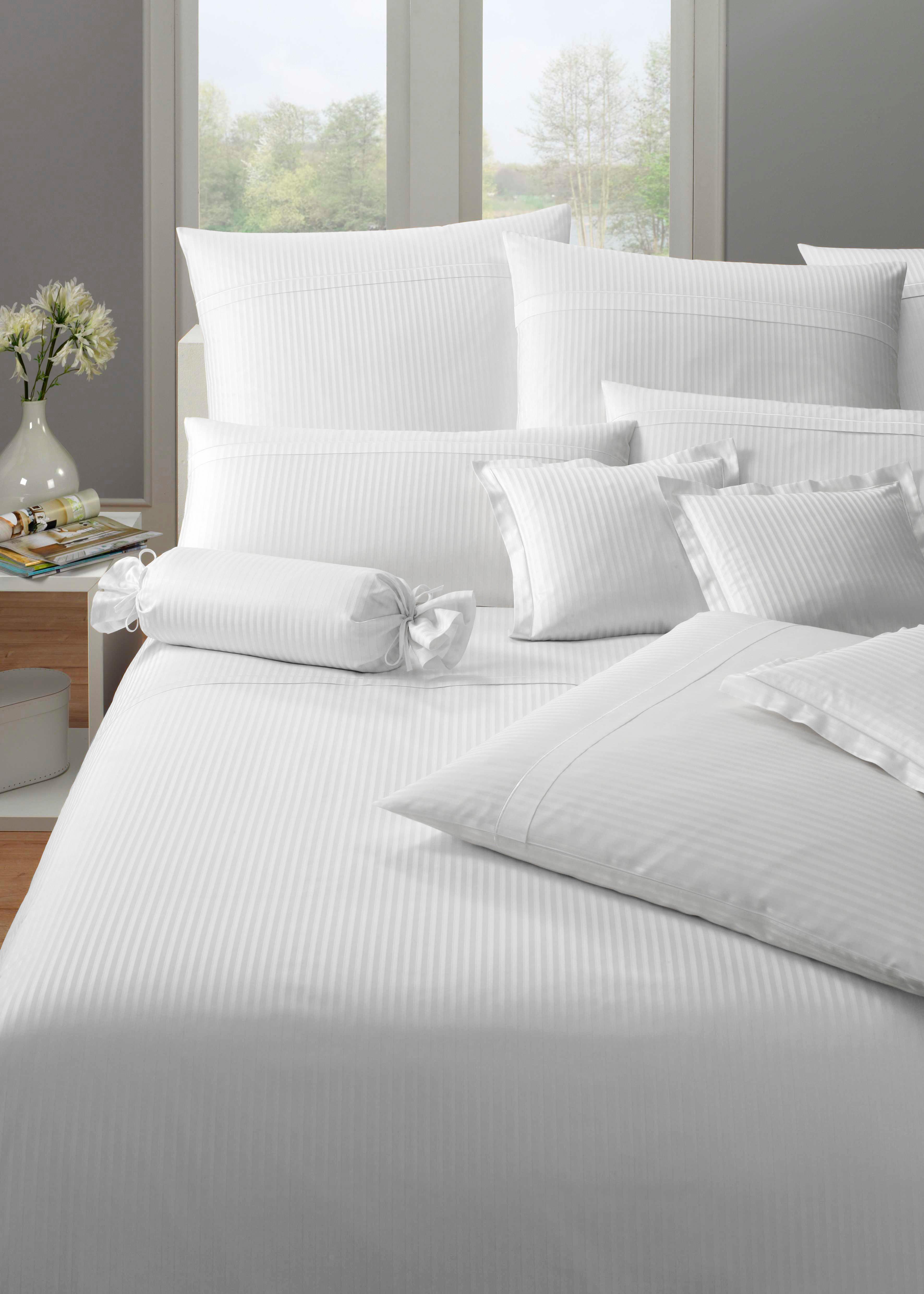 Bettwäsche Milano Elegante   Heimtextilien > Bettwäsche und Laken > Bettwäsche-Garnituren   Weiß   Elegante