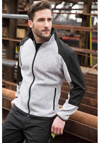 Terrax Workwear Strickfleecejacke, mit Softshelleinsätzen kaufen