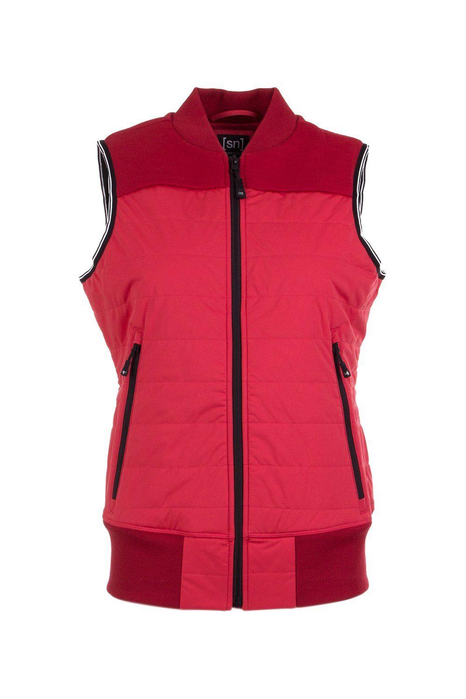 SUPERNATURAL Softshellweste W ACTIVE VEST | Sportbekleidung > Sportwesten > Softshellwesten | Rot | Super.Natural