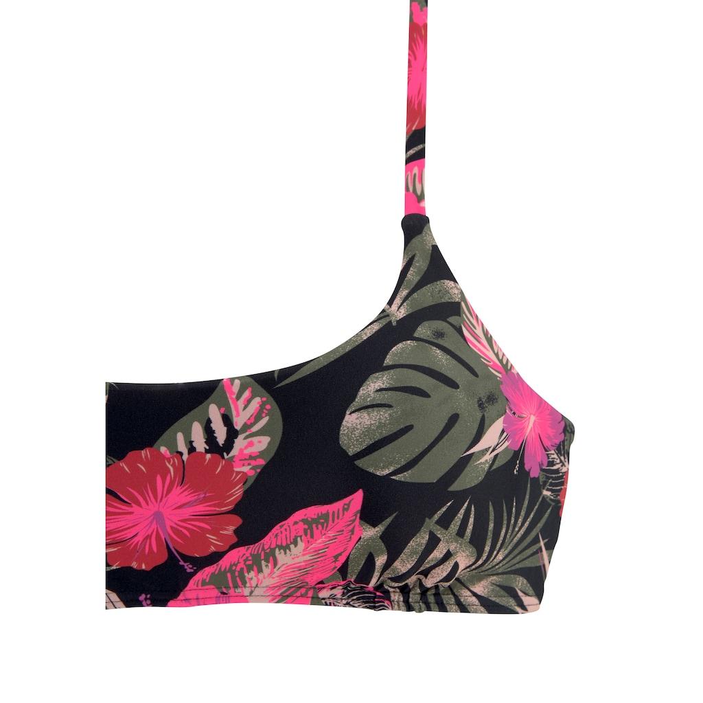 LASCANA Bustier-Bikini-Top »Elsa«, mit floralem Druck