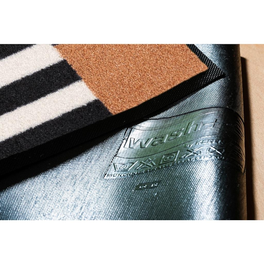 wash+dry by Kleen-Tex Fußmatte »Tastiera«, rechteckig, 7 mm Höhe, Fussabstreifer, Fussabtreter, Schmutzfangläufer, Schmutzfangmatte, Schmutzfangteppich, Schmutzmatte, Türmatte, Türvorleger, In- und Outdoor geeignet, waschbar