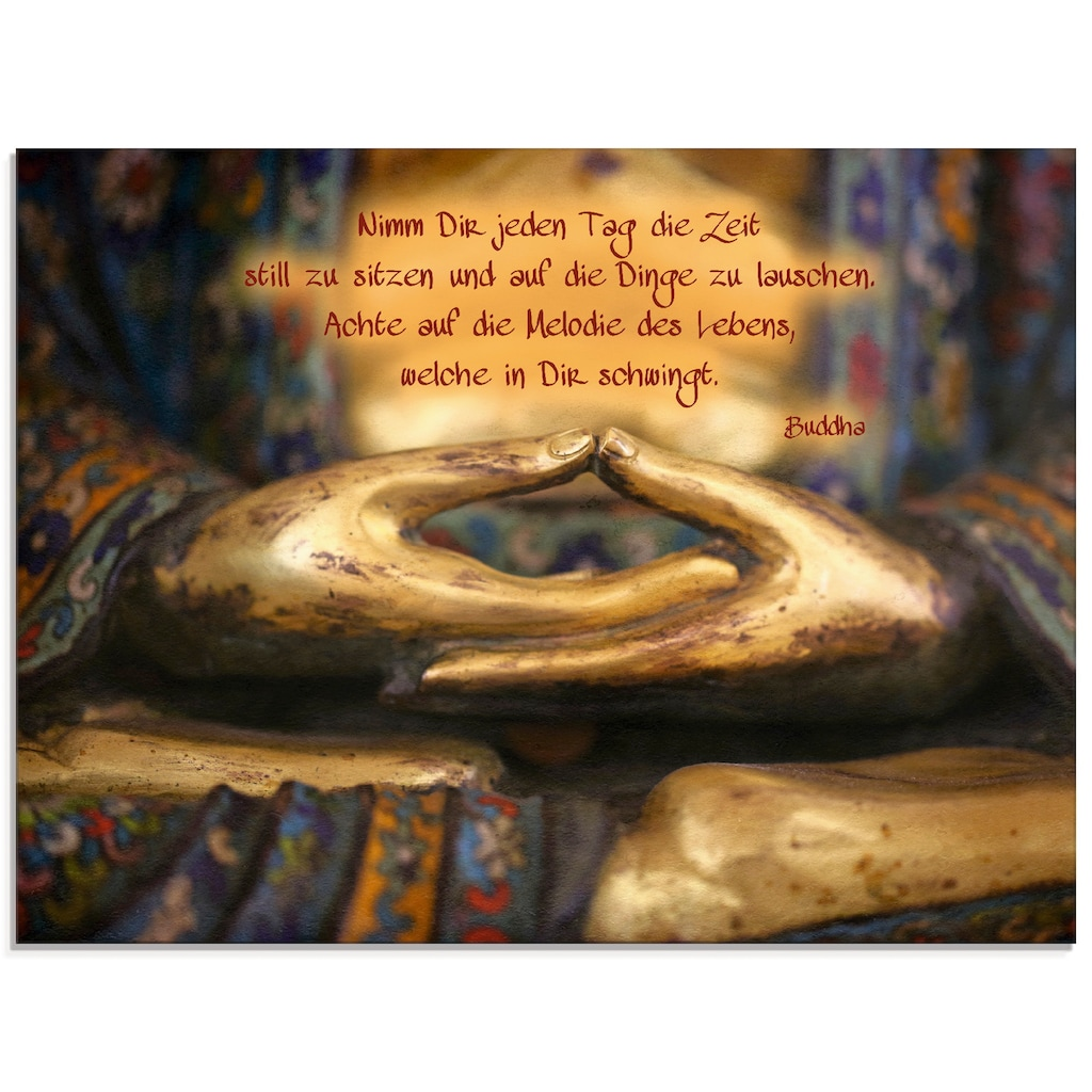 Artland Glasbild »Weisheit«, Religion, (1 St.)