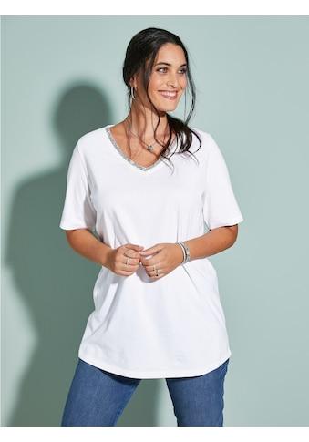 MIAMODA Kurzarmshirt, mit streckendem V-Ausschnitt kaufen