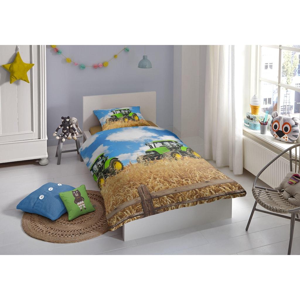 good morning Kinderbettwäsche »Farmer«, mit Treckermotiv