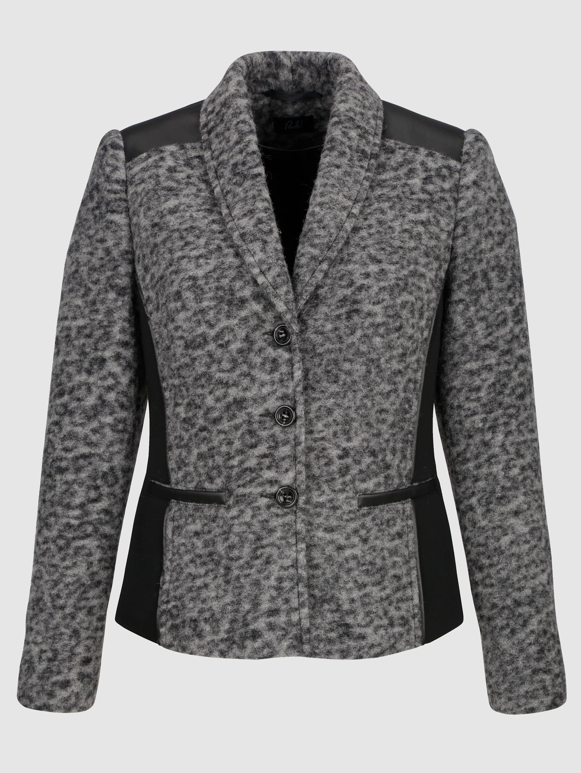 Paola Blazer aus hochwertiger Kochwolle grau Damen Anzüge