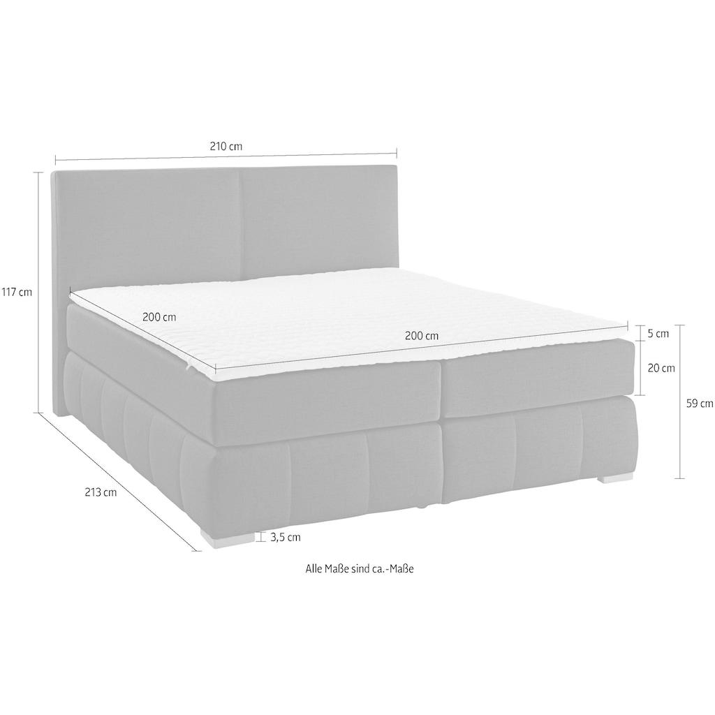 Guido Maria Kretschmer Home&Living Boxspringbett »Wehma«, inkl. Topper in 3 Ausführungen, 2 Härten