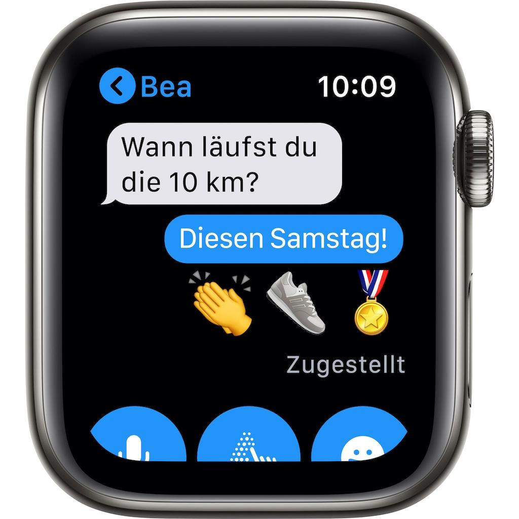 Apple Watch »Series 6 GPS + Cellular, Aluminiumgehäuse mit Sportarmband 40mm«, (Watch OS inkl. Ladestation (magnetisches Ladekabel)