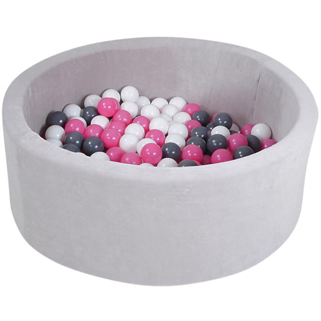 Knorrtoys® Bällebad »Soft, Grey«, mit 300 Bällen creme/grey/rose; Made in Europe