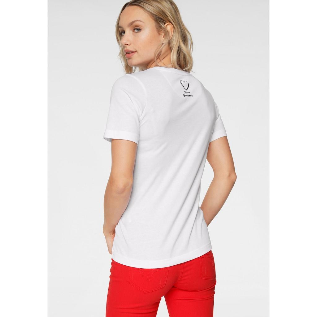 STOOKER WOMEN Rundhalsshirt, Fan-Shirt EM 2021, mit Glitzersmiley