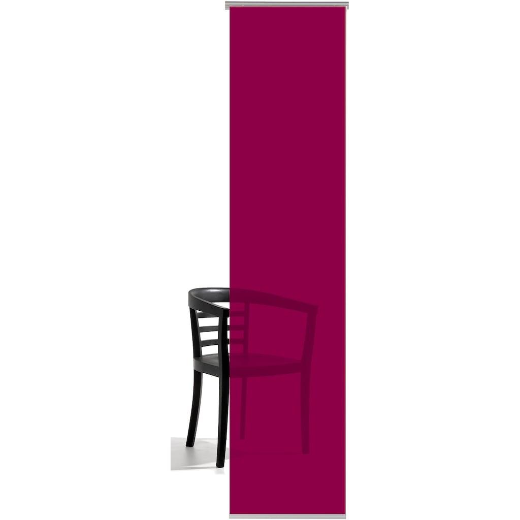emotion textiles Schiebegardine »Unifarben«, HxB: 260x60, mit Befestigungszubehör