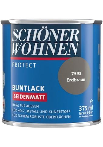 SCHÖNER WOHNEN-Kollektion Lack »Protect«, seidenmatt, 375 ml, erdbraun kaufen