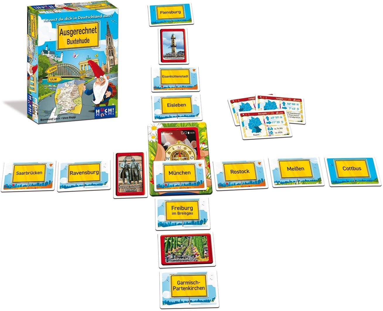 Huch! Huch Spiel Ausgerechnet Buxtehude bunt Kinder Quizspiele Gesellschaftsspiele