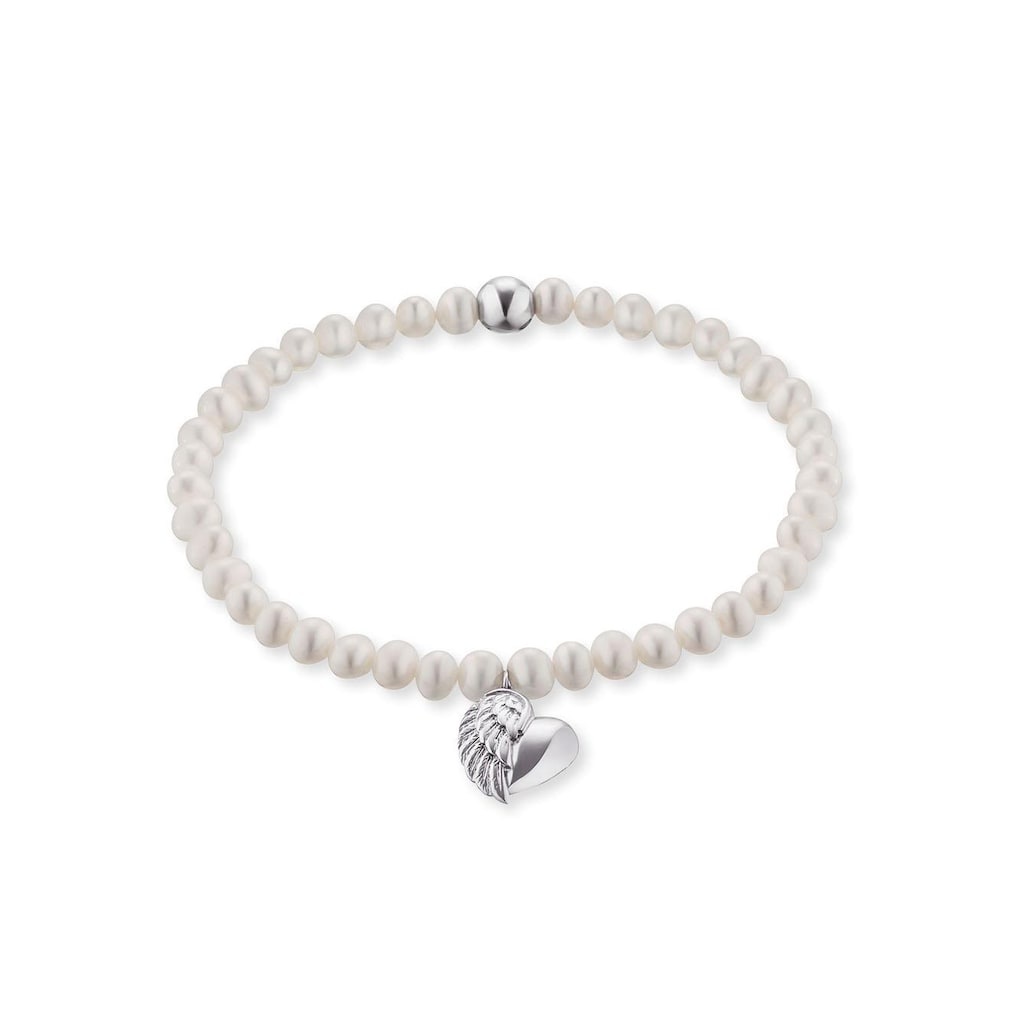 Engelsrufer Perlenarmband »HERZFLÜGEL CHARM, ERB-HEARTWING-PE«, mit Süßwasserzuchtperlen