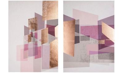 Art for the home Leinwandbild »Rose Gold Geos«, (2 St.) kaufen