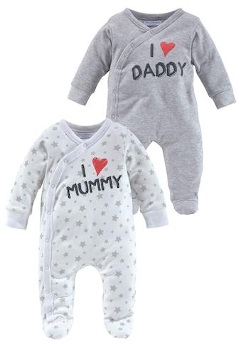 Klitzeklein Schlafanzug »I love Mummy / I love Daddy, Druck« (Set, 2 tlg.) kaufen