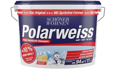 SCHÖNER WOHNEN FARBE Wand- und Deckenfarbe »Polarweiß«, Innenfarbe, Aktionsartikel mit +10% mehr Inhalt und Aktionscode kaufen