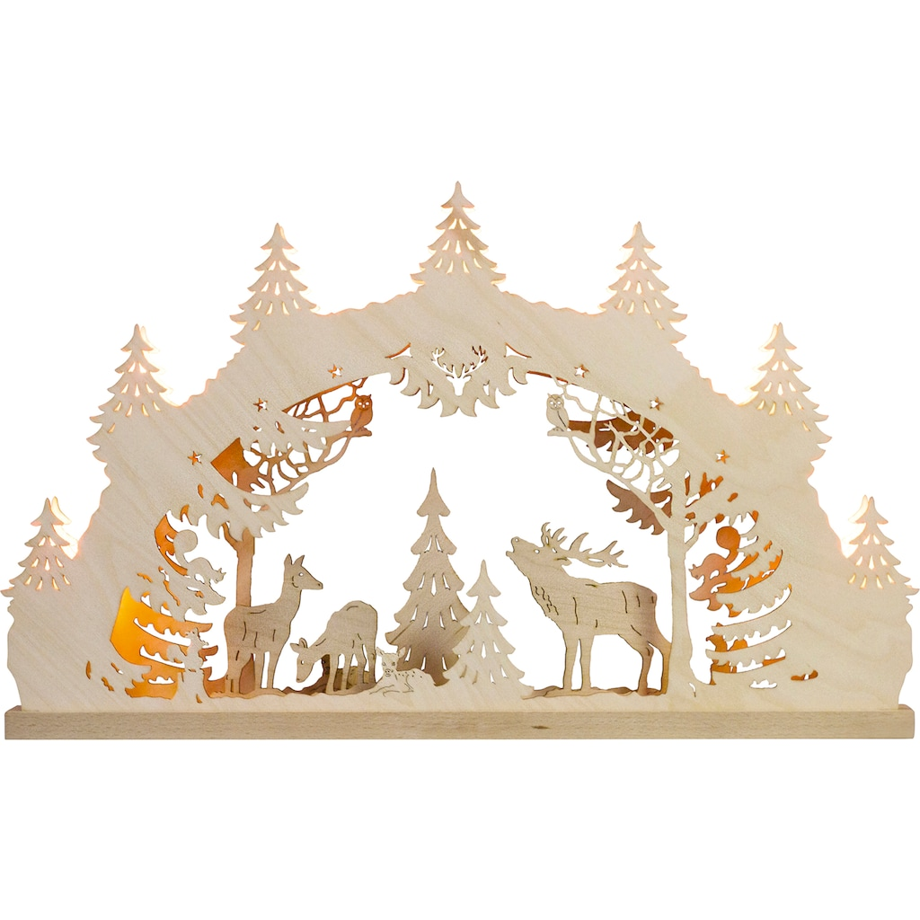 Weigla Schwibbogen »Hirschfamilie«, 7-flammig