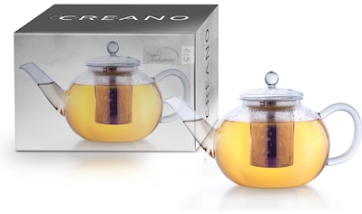 Creano Teekanne, 1,2 l, Borosilikatglas, inkl. Edelstahlfilter kaufen