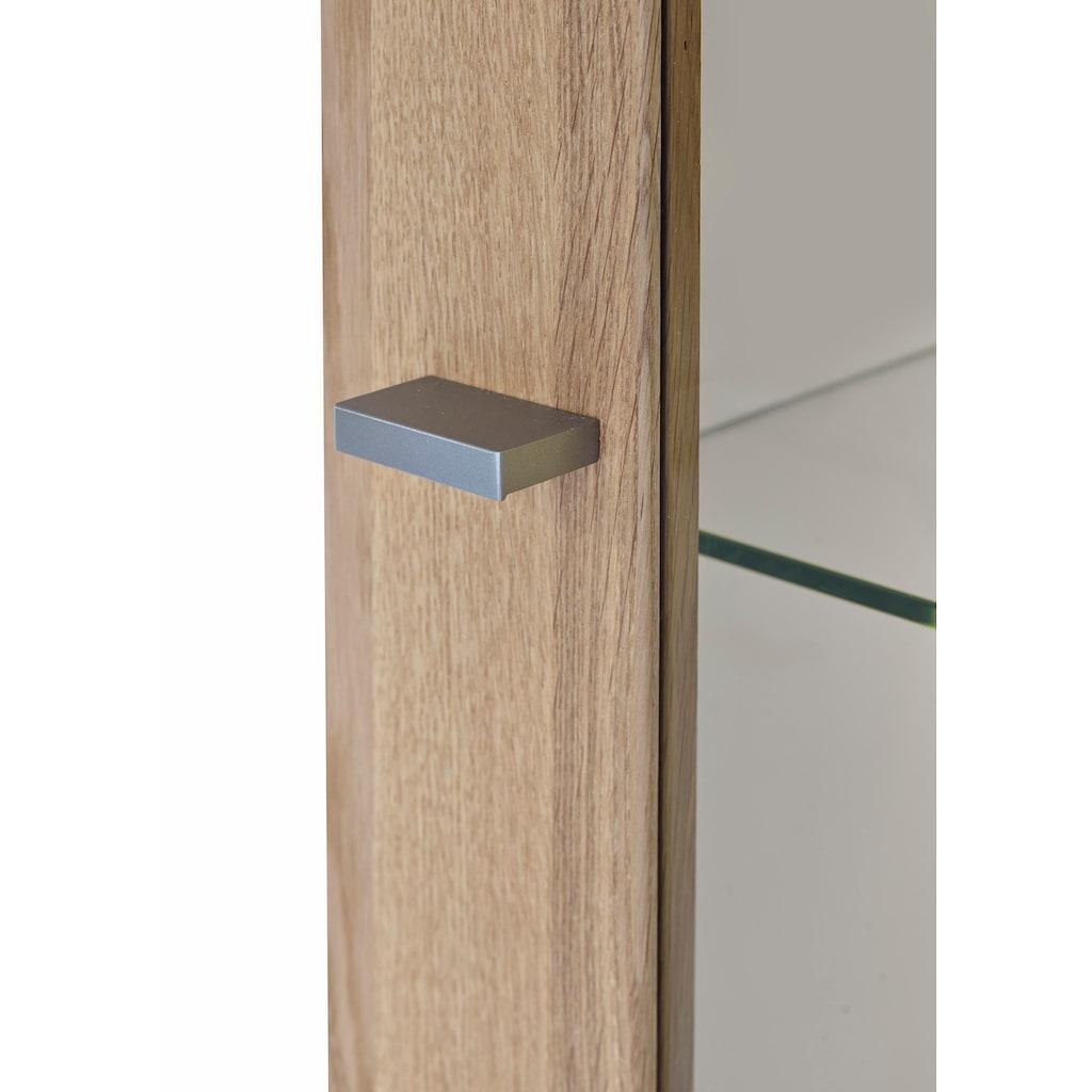 GWINNER Vitrine »SOLANO«, Lack weiß, 1-türig, Höhe 196,9 cm