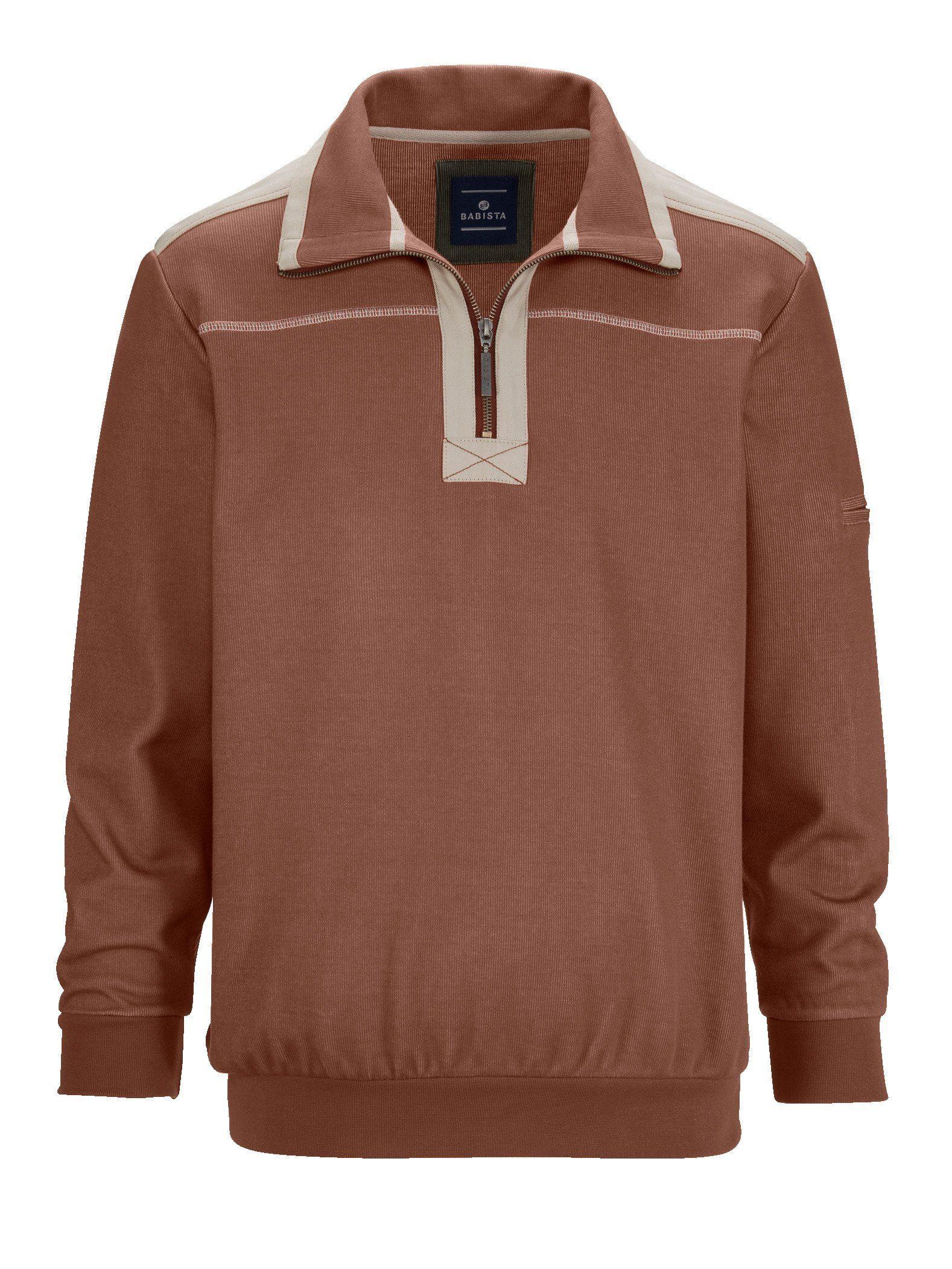 Babista Sweatshirt in zweifarbiger Optik Herrenmode/Bekleidung/Sweatshirts & -jacken/Sweatshirts