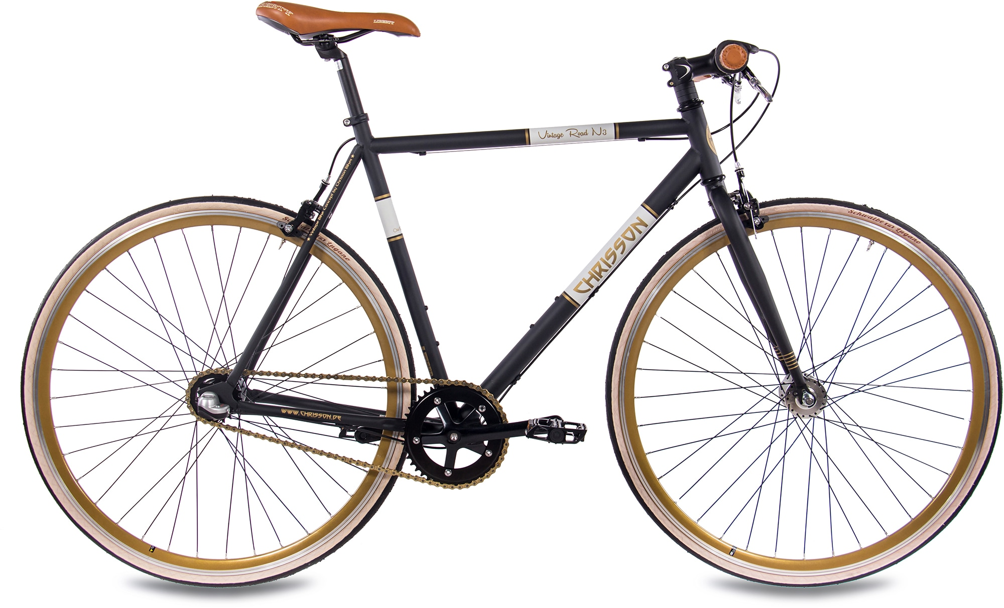 Chrisson Urbanbike Vintage Road N3, 3 Gang Shimano Nabenschaltung (1-tlg.) schwarz Crossräder Fahrräder Zubehör Fahrrad