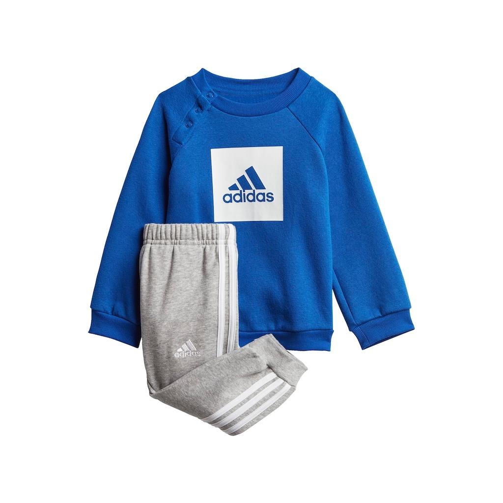 adidas Performance Jogginganzug »3-STREIFEN FLEECE«, (Set, 2 tlg.)