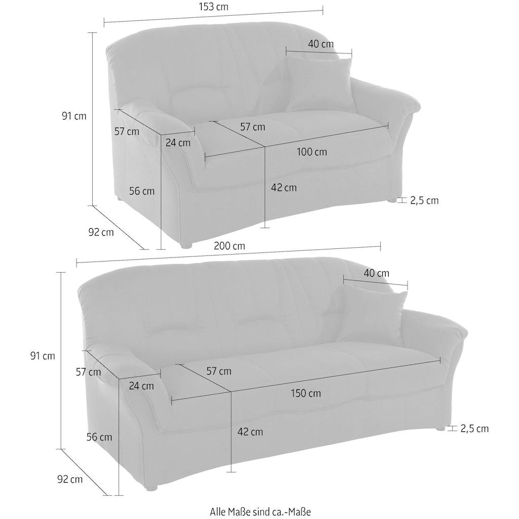 DOMO collection Polstergarnitur, (Set, 2 tlg.), 3-Sitzer & 2-Sitzer-Set